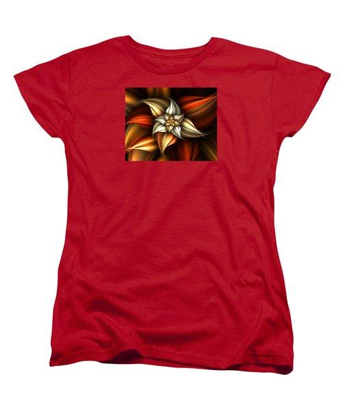 Women's T-Shirt (Standard Cut) featuring the digital art Golden Beauty by Ester  Rogers