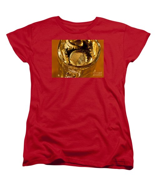 Women's T-Shirt (Standard Cut) featuring the photograph Golden Beer  Mug  by Wilma  Birdwell