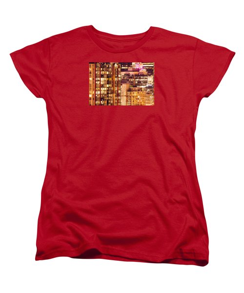 Women's T-Shirt (Standard Cut) featuring the photograph City Of Vancouver - Golden City Of Lights Cdlxxxvii by Amyn Nasser