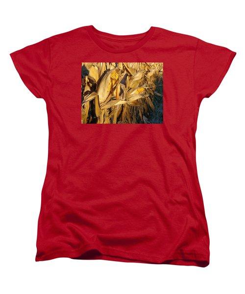 Women's T-Shirt (Standard Cut) featuring the photograph Golden Corn by Joseph Skompski