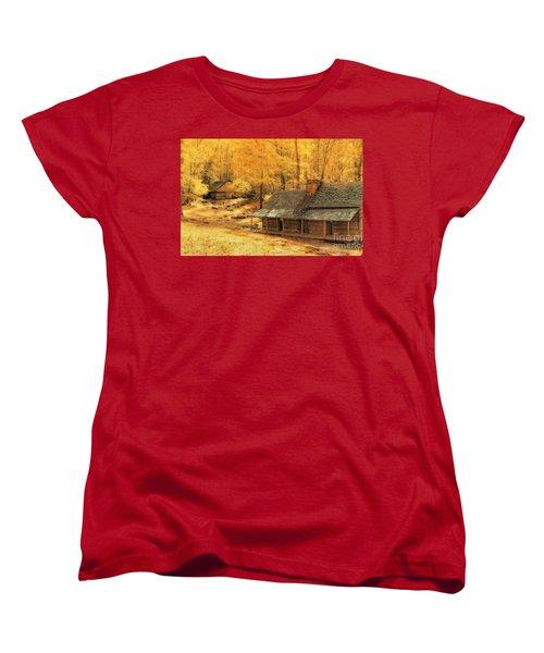 Women's T-Shirt (Standard Cut) featuring the photograph Golden Dream Home by Geraldine DeBoer