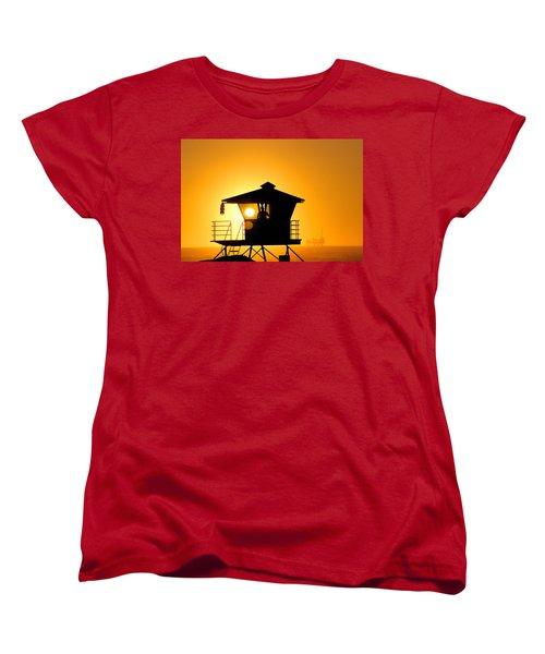 Golden Hour Women's T-Shirt (Standard Cut) by Tammy Espino