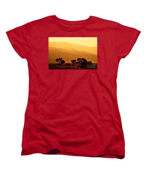 Golden Mountain Light Women's T-Shirt (Standard Cut) by David Lawson