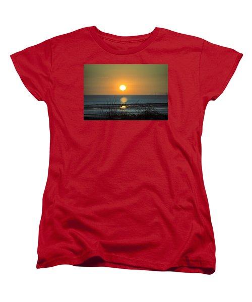 Golden Orb Women's T-Shirt (Standard Cut) by Spikey Mouse Photography