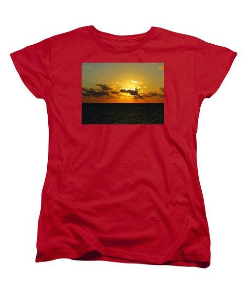 Women's T-Shirt (Standard Cut) featuring the photograph Golden Rays Sunset by Jennifer Wheatley Wolf