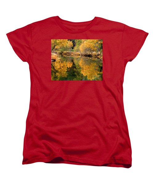 Golden Reflections Women's T-Shirt (Standard Cut) by Terry Garvin