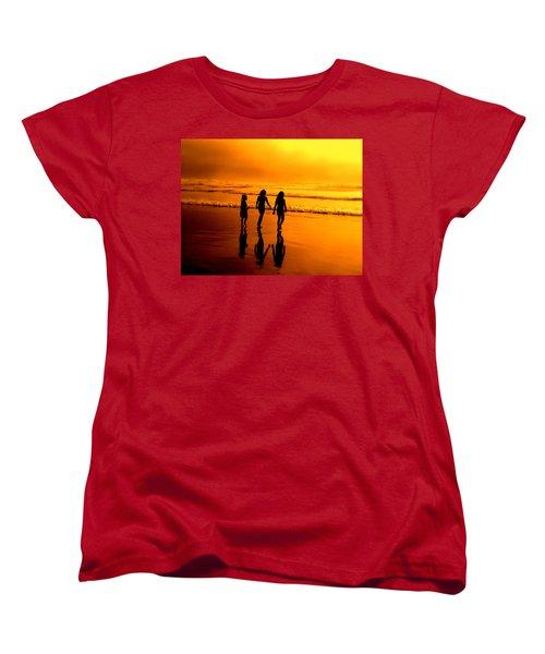 Women's T-Shirt (Standard Cut) featuring the photograph Golden Sands  by Micki Findlay