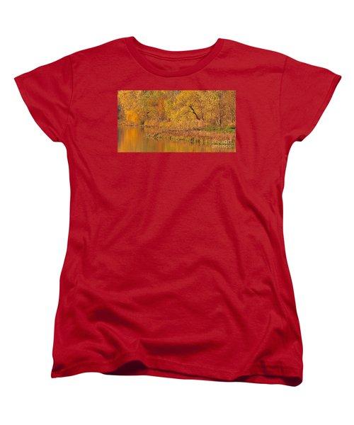 Golden Sunrise Women's T-Shirt (Standard Cut) by Elizabeth Winter