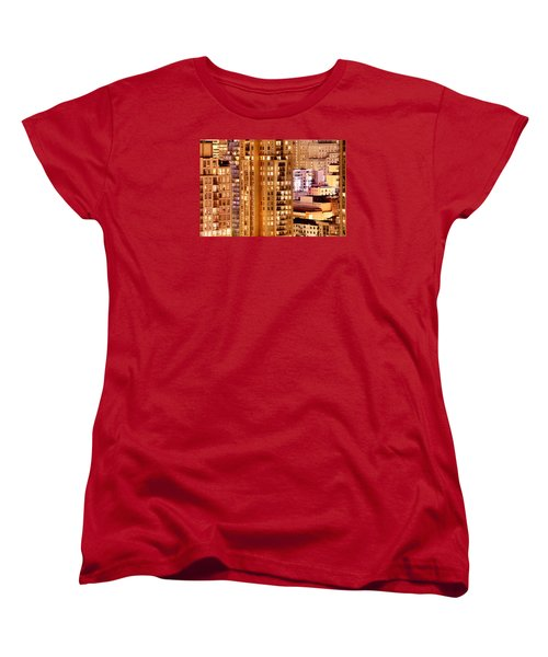 Women's T-Shirt (Standard Cut) featuring the photograph Golden Vancouver Cityscape Cdxii By Amyn Nasser by Amyn Nasser