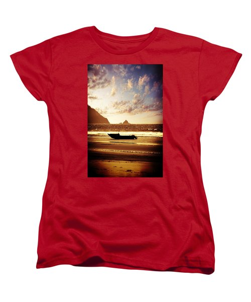 Ocean Women's T-Shirt (Standard Cut) featuring the photograph Gone Fishin' by Aaron Berg