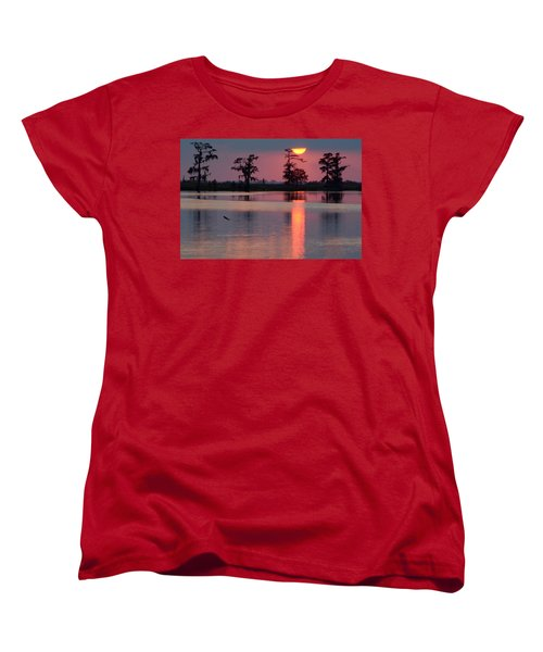 Women's T-Shirt (Standard Cut) featuring the photograph Gone Fishin by Charlotte Schafer