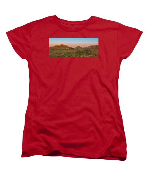 Women's T-Shirt (Standard Cut) featuring the photograph Good Morning Badlands II by Patti Deters