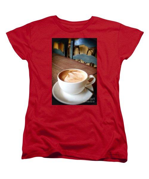 Good Morning Latte Women's T-Shirt (Standard Cut) by Susan Garren