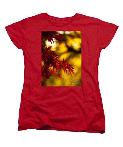 Graceful Leaves Women's T-Shirt (Standard Cut) by Mike Reid