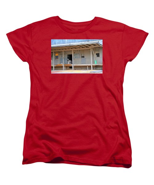 Women's T-Shirt (Standard Cut) featuring the photograph Grain Elevator by Terri Gostola