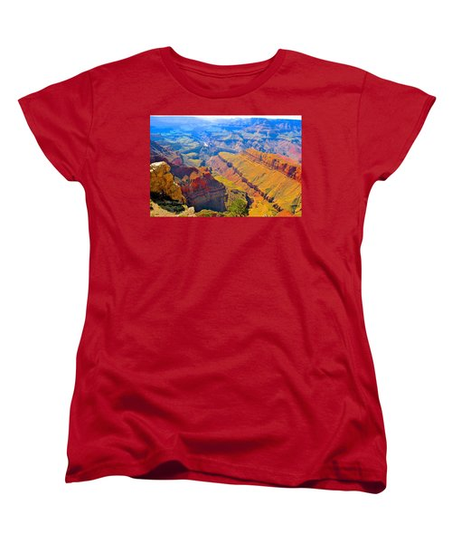 Grand Canyon In Vivid Color Women's T-Shirt (Standard Cut) by Jim Hogg