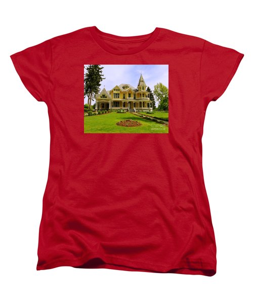 Women's T-Shirt (Standard Cut) featuring the photograph Grand Yellow Victorian by Becky Lupe