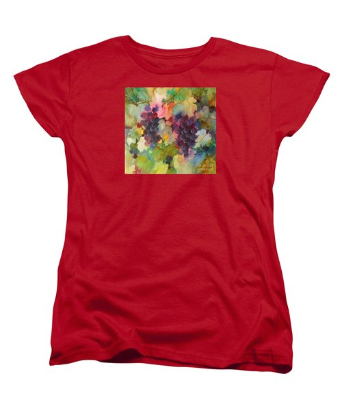 Women's T-Shirt (Standard Cut) featuring the painting Grapes In Light by Michelle Abrams