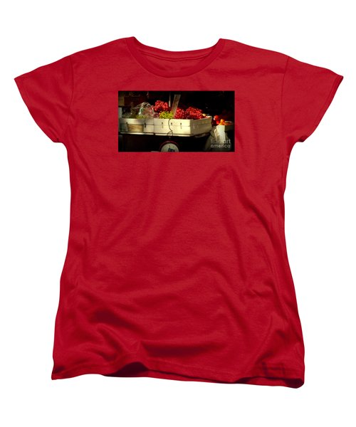 Grapes With Weighing Scale Women's T-Shirt (Standard Cut) by Miriam Danar
