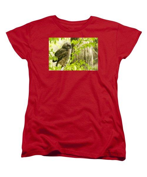 Great Horned Owlet Women's T-Shirt (Standard Cut) by Michael Cummings