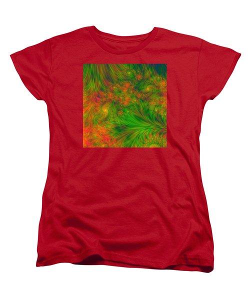 Women's T-Shirt (Standard Cut) featuring the digital art Green Green Grass Of Home by Svetlana Nikolova