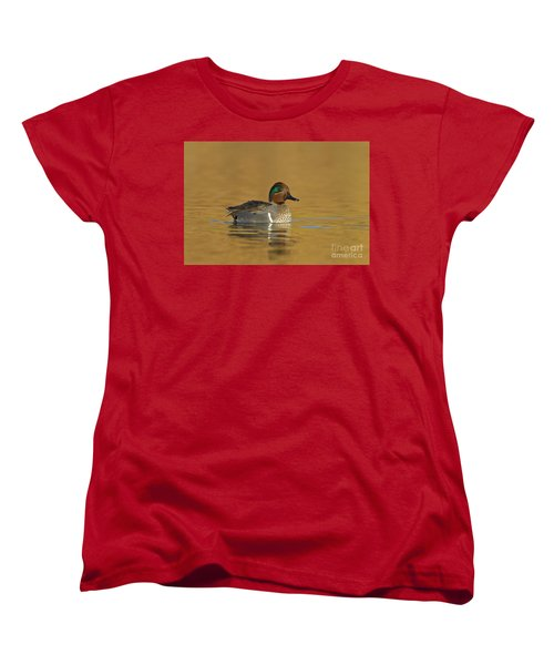 Green Wing Teal Women's T-Shirt (Standard Cut) by Bryan Keil