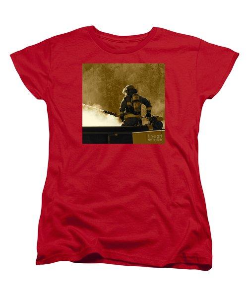 Greer Lodge  Women's T-Shirt (Standard Cut) by Pamela Walrath