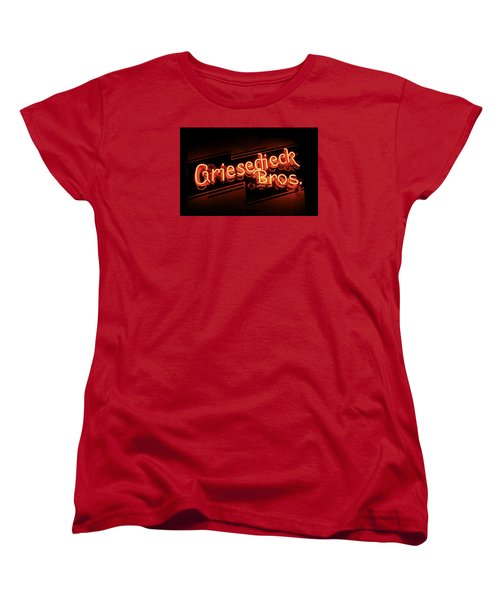 Griesedieck Brothers Beer Neon Sign Women's T-Shirt (Standard Cut) by Jane Eleanor Nicholas