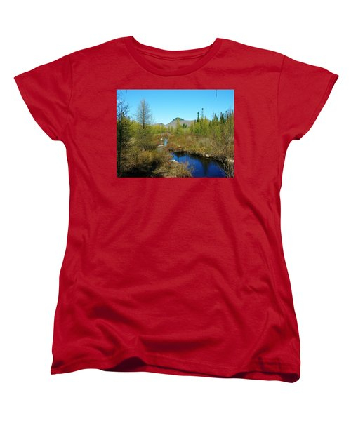 Women's T-Shirt (Standard Cut) featuring the photograph Groton State Forest Moose Country by Sherman Perry