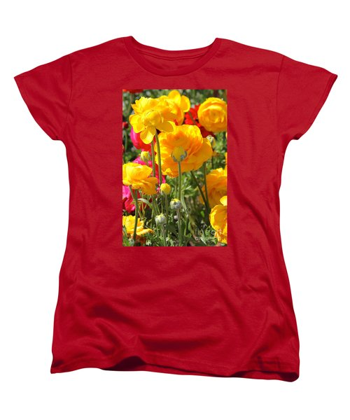 Growth Of A Ranunculus Women's T-Shirt (Standard Cut) by Suzanne Oesterling