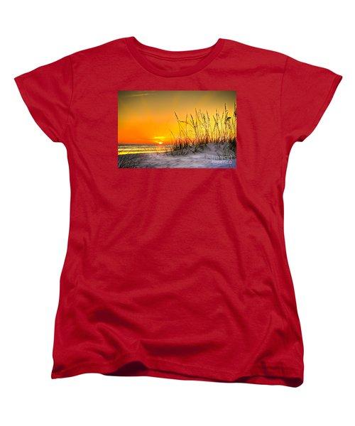 Gulf Sunset Women's T-Shirt (Standard Cut) by Marvin Spates