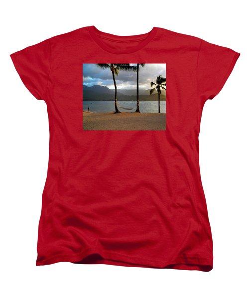 Hammock At Hanalei Bay Women's T-Shirt (Standard Cut) by James Eddy