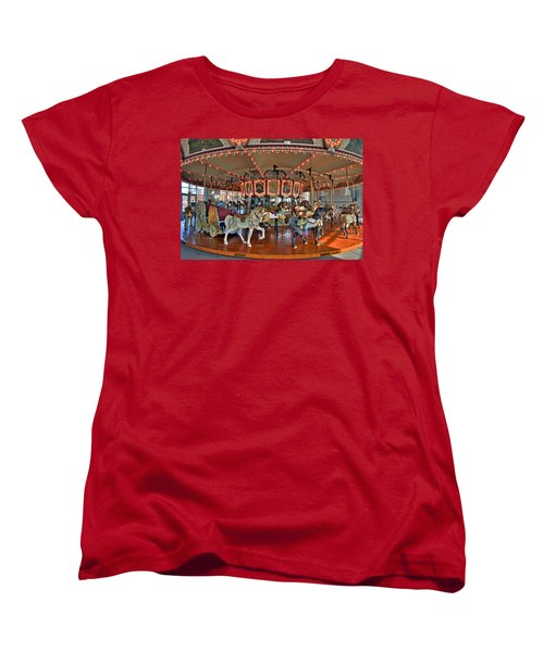 Hampton Carousel 2 Women's T-Shirt (Standard Cut) by Jerry Gammon