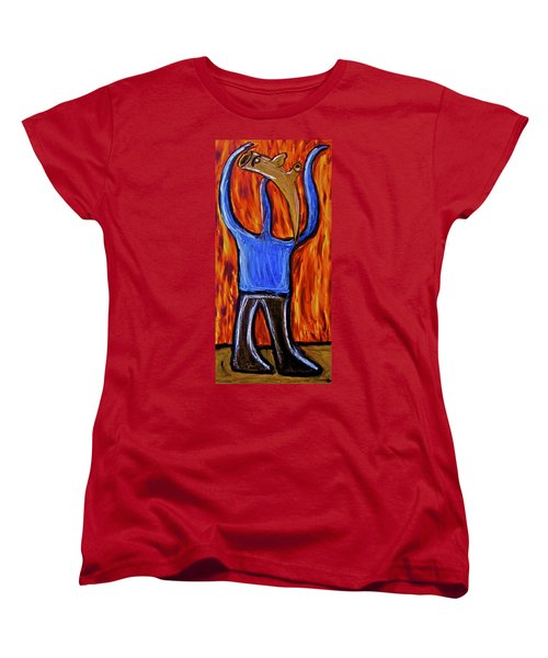 Women's T-Shirt (Standard Cut) featuring the painting Happiness 12-002 by Mario Perron