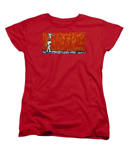 Women's T-Shirt (Standard Cut) featuring the painting Happiness 12-007 by Mario Perron