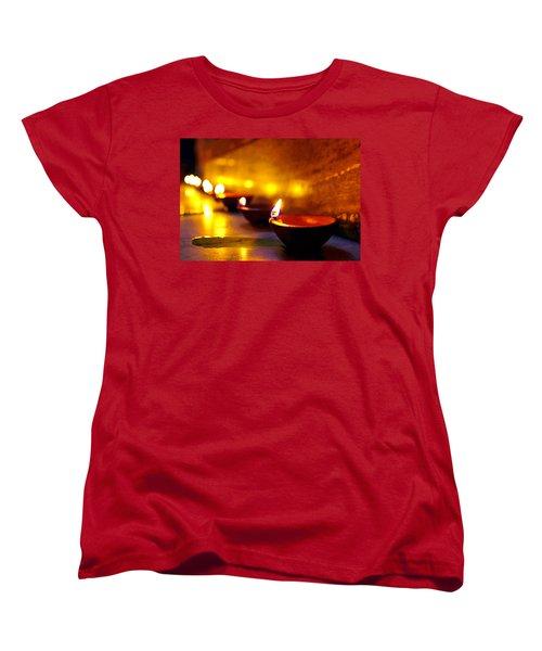 Happy Diwali Women's T-Shirt (Standard Cut) by Prakash Ghai