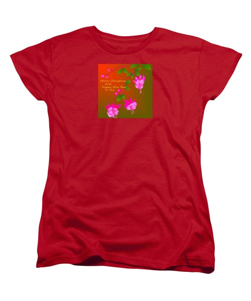 Women's T-Shirt (Standard Cut) featuring the digital art Happy Holidays by Latha Gokuldas Panicker