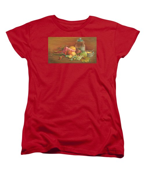 Women's T-Shirt (Standard Cut) featuring the painting Harvest Fruit by Doreta Y Boyd
