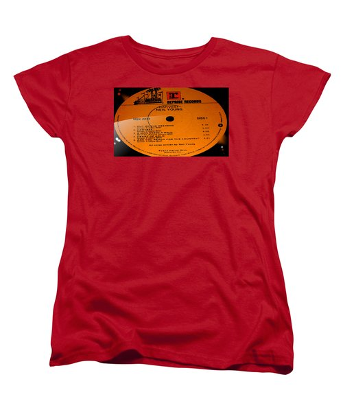 Harvest - Neil Young Side 1 Women's T-Shirt (Standard Cut) by Marcello Cicchini