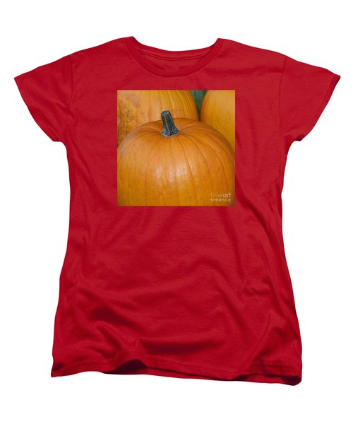 Women's T-Shirt (Standard Cut) featuring the photograph Harvest Pumpkins by Chalet Roome-Rigdon