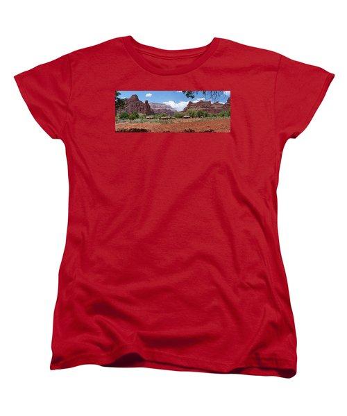 Women's T-Shirt (Standard Cut) featuring the photograph Havasupai Village Panorama by Alan Socolik