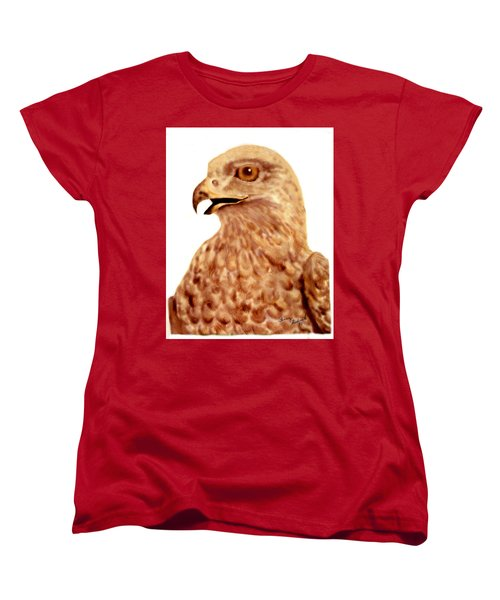 Women's T-Shirt (Standard Cut) featuring the digital art Hawk by Terry Frederick