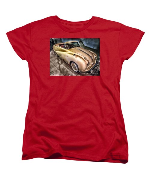 Women's T-Shirt (Standard Cut) featuring the photograph Hdr Classic Car by Paul Fearn