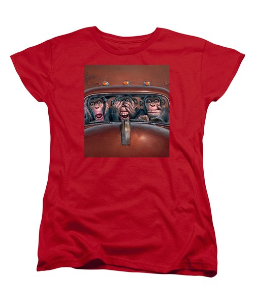 Hear No Evil See No Evil Speak No Evil Women's T-Shirt (Standard Cut) by Mark Fredrickson