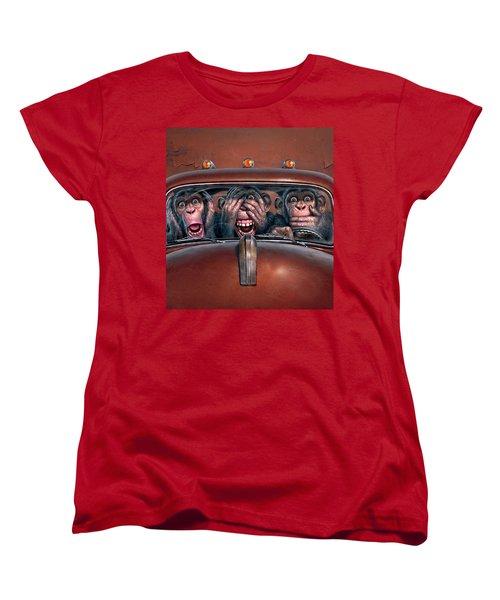 Hear No Evil See No Evil Speak No Evil Women's T-Shirt (Standard Cut)