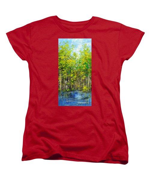 Women's T-Shirt (Standard Cut) featuring the painting Heat Of Summer by Tatiana Iliina