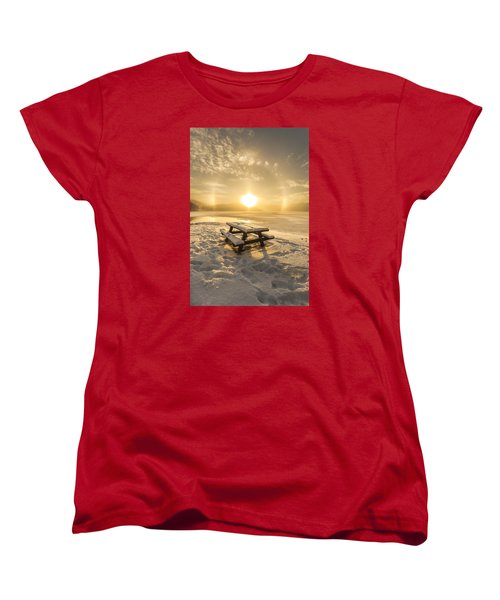 Women's T-Shirt (Standard Cut) featuring the photograph Heavenly Sleep by Rose-Maries Pictures