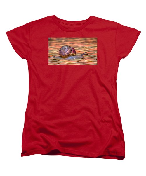 Women's T-Shirt (Standard Cut) featuring the photograph Helix Aspersa by Rob Sellers