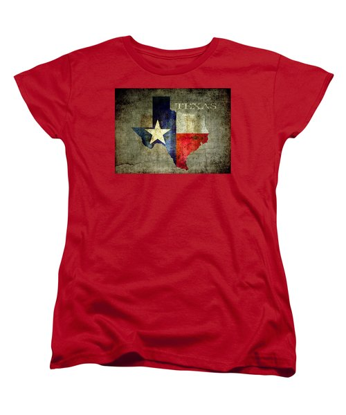 Hello Texas Women's T-Shirt (Standard Cut) by Daniel Hagerman