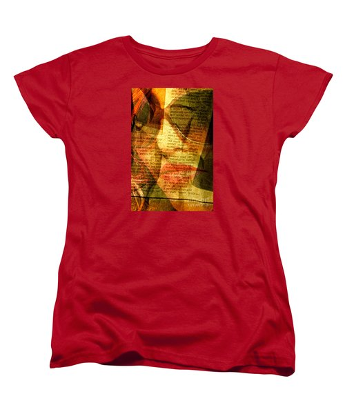 Hiding From The News Women's T-Shirt (Standard Cut) by Michael Cinnamond